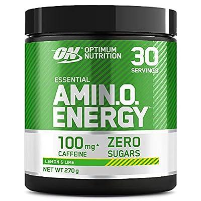 Optimum Nutrition Amino Energy Pre Workout Powder Keto Friendly with Beta Alanine, Caffeine, Amino Acids and Vitamin C, Lemon Lime, 30 Servings, 270 g