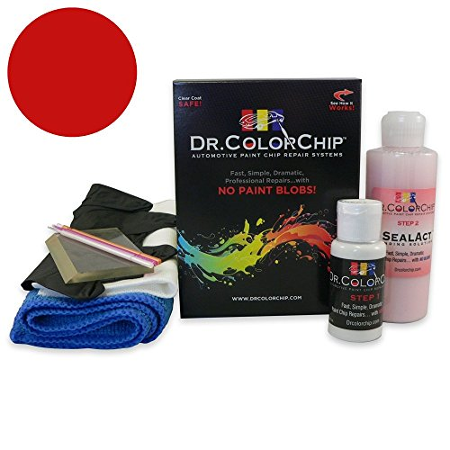 Dr. ColorChip Lincoln MKZ Automobile Paint - Ruby Red Metallic RR - Squirt-n-Squeegee Kit