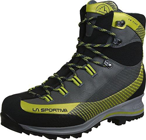 LA SPORTIVA Trango TRK Leather GTX Carbon/Green, Stivali da Escursionismo Alti Unisex-Adulto, Multicolore 000, 43 EU