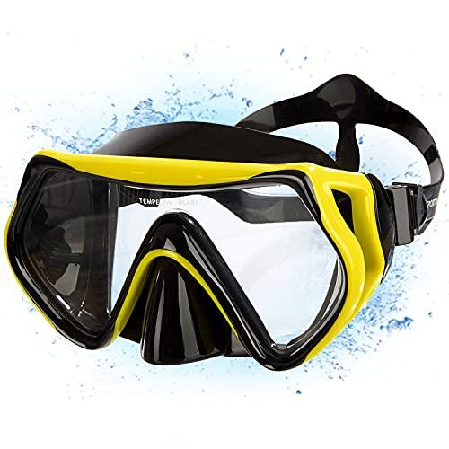 """Sportastisch Taucherbrille """"Dive Under"""" Tauchmaske wasserdicht Anti-Fog Anti-Leck aus Gehärtetem Glas, Professionelle Schnorchelbrille Erwachsene zum Schnorcheln Tauchen, biszu 3 Jahren Garantie*"""