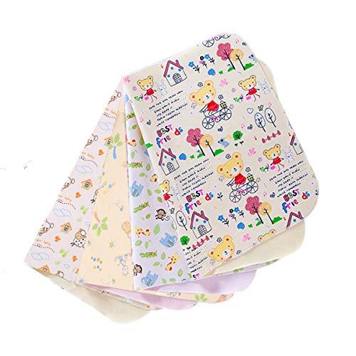 Draagbaar aankleedkussen, waterdicht, voor baby's, 4-delig pak, zacht ademend, baby, waterdichte wikkelonderlegger, liner, matras, wasbare luieronderlegger, incontinentieonderlegger voor volwassenen, 30 x 45 cm
