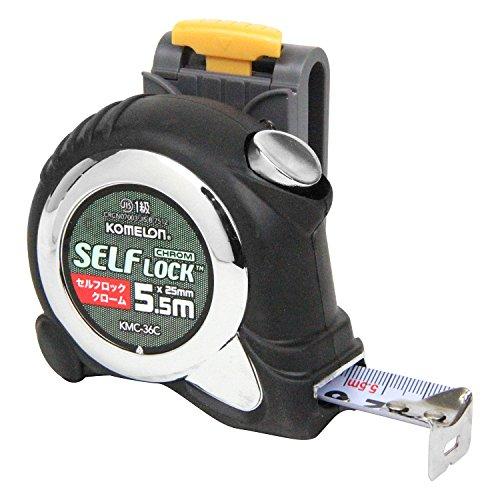 コメロン コンベックス セルフロッククローム 25 5.5M ホルダー付 KMC-36CL
