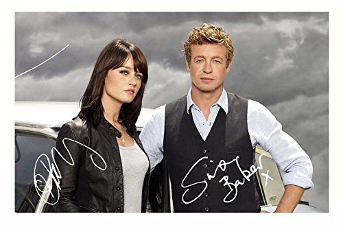 The Mentalist - Robin Tunney & Simon Baker Signiert Autogramme 21cm x 29.7cm Plakat Foto