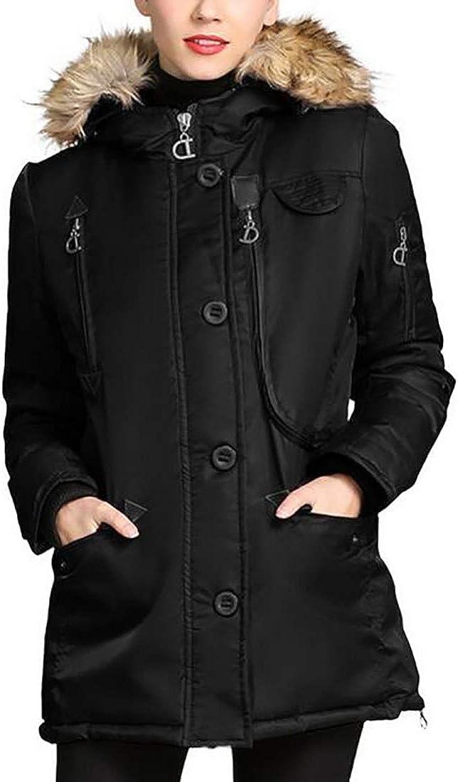 Inlefen Women's Padded Jacket Winter Girls Hood Parka Jacket Coat