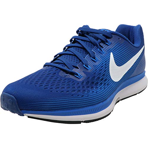 Nike Mens Air Zoom Pegasus 34 Running Shoes, Gym Blue/Sail/Blue Nebula, 12 Women/9.5 Men