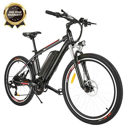 """BIKFUN Bicicletta Elettrica Pieghevole, 26"""" Bici al Lavoro E-Bike, 250W Batteria 36V 8Ah, Cambio Shimano a 7 velocità"""