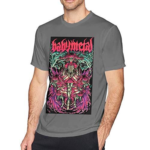 Babymetal T Shirt Deep Heather 6XL Men T-Shirt aus Baumwolle für Herren Kurzarm Männer Tshirt Rundhalsausschnitt