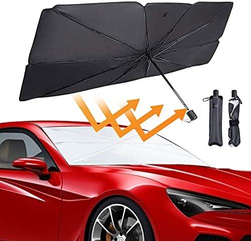 Car Windshield Sunshade Umbrella-Type Car Sun Shade for Windshield Foldable Car Umbrella Sunshade Cover Protect Vehicle from UV Sun and Heat,Windshield Sun Shade Easy to Use