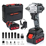 Best Impact Wrenches - Impact Wrench with 2 Battery, Cordless Impact Driver Review