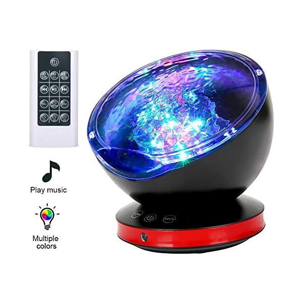 Projektor-Lampe-Ozean-Stimmungslicht-Kinder-12LED-8-Beleuchtungsmodi-6-Schlafende-Musik-Nachtlicht-Kind-mit-Timerfunktion-Lautsprecherfunktion-LED-Projektor-fr-Kinder-Geburtstag-Weihnachten-Geschenk