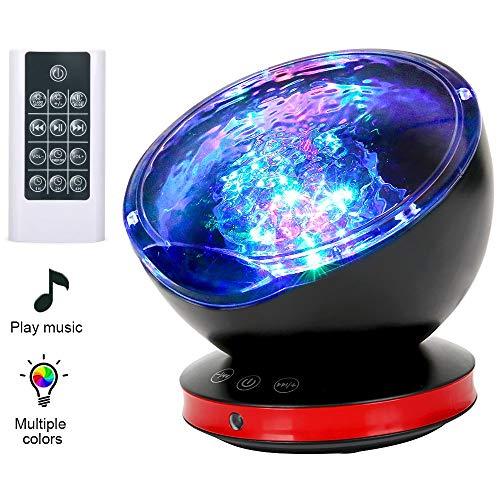 Lámpara Proyector LED,Luz de Noche y Océano +Control Remoto+Temporiz