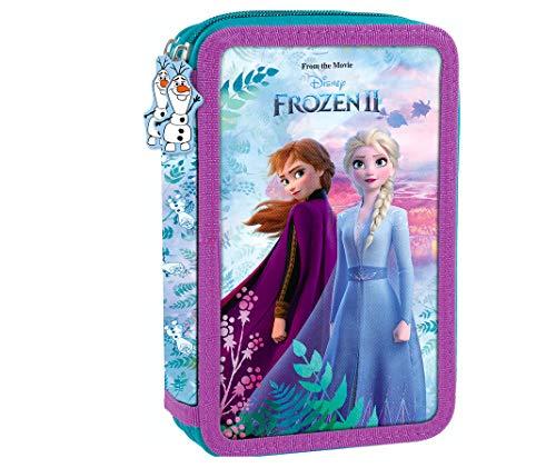 Frozen II 2 Eiskönigin ELSA Olaf Anna 26 x Teile Federtasche Federmappe zweistöckig gefüllt mit Sticker-von-Kids4shop doppelstöckig