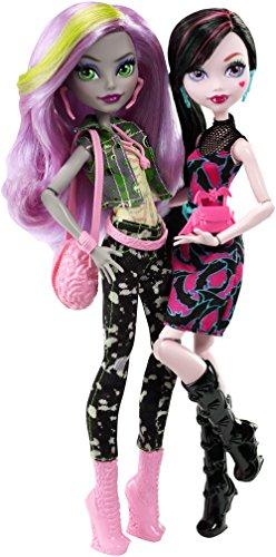 Monster High Mattel DNY33 - WADMH 2-er Pack Puppen Geschenkset, Draculaura und Moanica, Ankleidepuppen