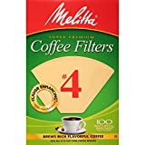 brim coffee filter - Melitta #4 Cone Coffee Filters, Natural Brown, 100 Count