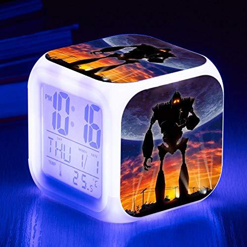 Despertador de viaje Despertador digital de cabecera Despertador con puerto de carga USB LED Luz de noche colorida Despertador iluminado Pantalla multifunción Interruptor de tacto Silencio D7500