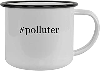#polluter - 12oz Hashtag Camping Mug Stainless Steel, Black