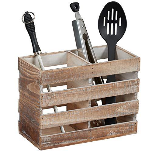 primitive country utensil crock - 3