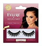 Eylure Vegas Nay Fiercely Fabulous False Eyelashes, Reusable, Adhesive Included, 1 Pair, Cruelty Free