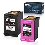 OfficeWorld Remanufacturé HP 901XL 901 Cartouches(1 Noir, 1 Tri-couleur) Compatible pour HP Officejet 4500 4500 4500 J4500 J4524 J4525 J4535 J4540 J4550 J4580 J4585 J4600 J4624 J4640 J4660 J4680
