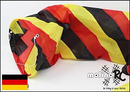 molinoRC Wunderschöner Deutschland Windsack | BRD / D in leuchtenden Farben | Durchmesser 15cm | Länge 130cm | Windspiel | Wetterfahne | Windturbine | Deutschland | Expressversand BRD