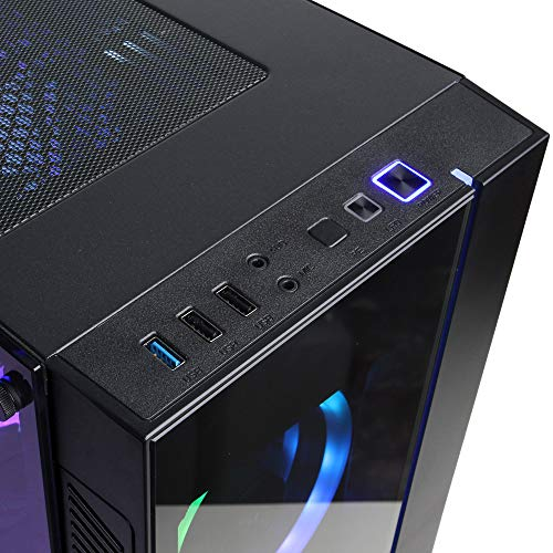 CyberpowerPC Gamer Supreme Liquid Cool Gaming PC, Intel Core i9-10900 2.8GHz, 16GB DDR4, NVIDIA GeForce RTX 2060 Super 8GB, 1TB PCI-E NVMe SSD, WiFi Ready