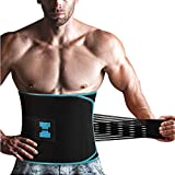 Sauna Waist Trimmer Belt,Widening Waist Trainer with Adjustable Double Straps,Sweat AB Belt for Weight Loss and Back Support Neoprene Belt