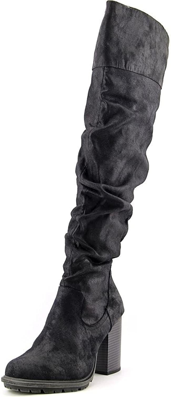 7 Dials Women's Senorita Tall Slouch Boot,Black Fabric,US 6.5 M