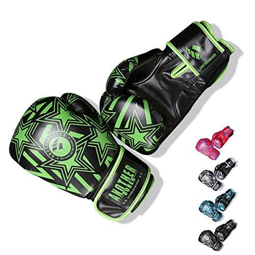 OLYSPM Boxhandschuhe Muay Thai Training Kickboxen Sparring Training 4oz-14oz|Kinder Boxhandschuhe.(Grün)