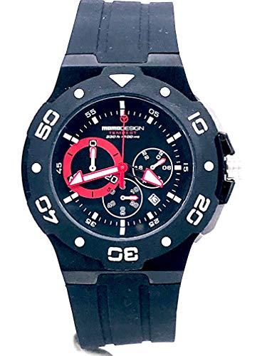 Momo diseño Tempestad reloj, PVD, Cronograph, 46mm,., 10ATM., md1004bk-11