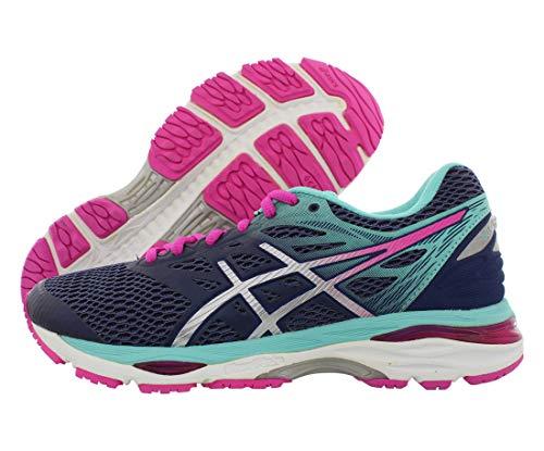 ASICS Women's Gel-Cumulus 18 Running Shoe, Indigo Blue/Silver/Pink Glow, 6 M US