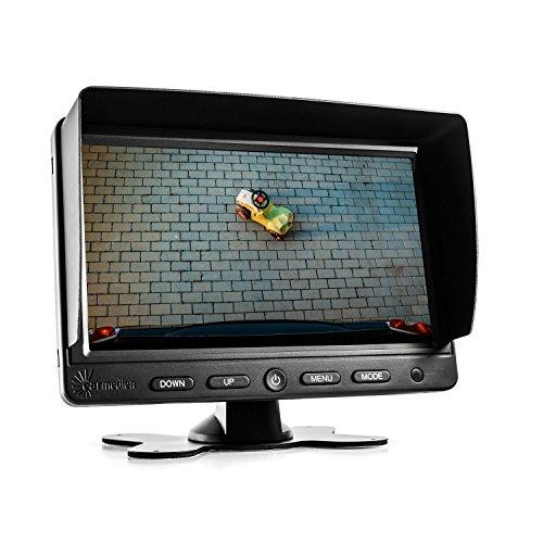 Carmedien 7 Zoll TFT LCD Monitor cm-NMR7 Bildschirm für Rückfahrkamera Kamera System 12V 24V 7