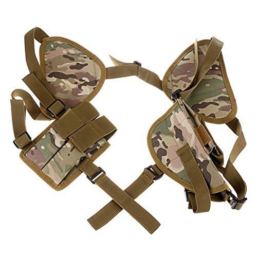 LiQinKeJi8 Cómodo Pistola táctica Pistola Holster Universal Izquierda Mano Derecha Pistola de Pistola Lleva la Bolsa de Hombro Oculto para el Hombro para Herramienta de Funda (Color : Camouflage)
