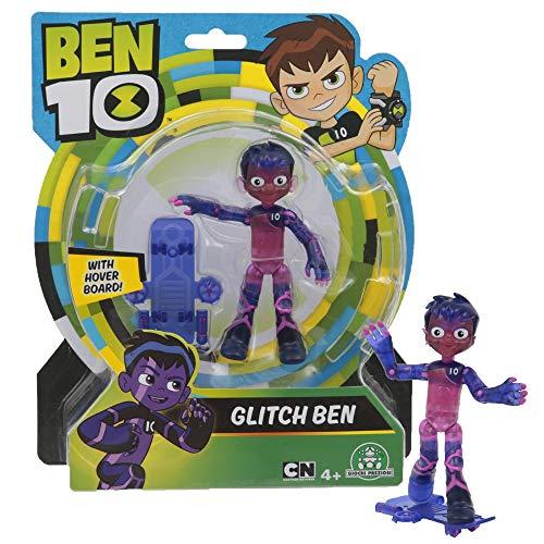 Giochi Preziosi- Ben 10 Glitch Personaggio Base, Multicolore, 13 cm, BEN35F20