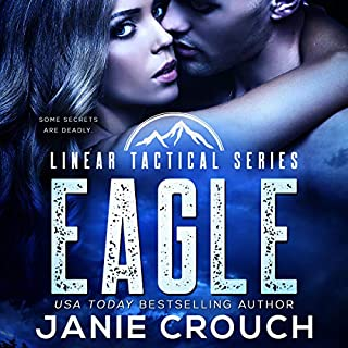 Eagle     A Linear Tactical Romantic Suspense Standalone              By:                                                                                                                                 Janie Crouch                               Narrated by:                                                                                                                                 Tom Campbell                      Length: 6 hrs and 52 mins     1 rating     Overall 5.0