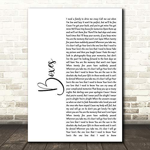 Boxen wit Script Song Lyrische Quote Muziek Gift Wall Art Poster Print Medium A4