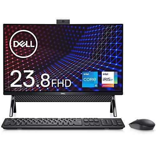 Dell フレームレスデスクトップ Inspiron 24 5400 ブラック Win10/23.8FHD/Core i5-1135G7/8GB/256GB SSD+1TB HDD/Webカメラ/無線LAN AI556A-BHLB