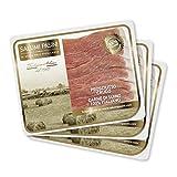 Prosciutto Crudo Stagionato Salumi Pasini® | 3 Vaschette Preaffettato | 80 gr cad. | 100% Italiano | Senza Glutine e Lattosio