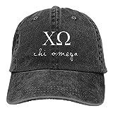 Whitneychuang Gorra de béisbol Unisex Chi Omega Sorority Sombrero Deportivo Informal Ajustable Gorra Sombrero de Vaquero