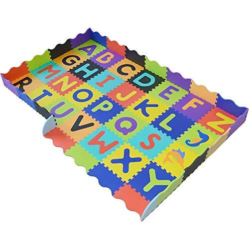 NuoEn Tappeto da Gioco per Bambini,Baby Crawl Bambini stuoia Ispessimento Splicing Alfabeto Pad Puzzle...