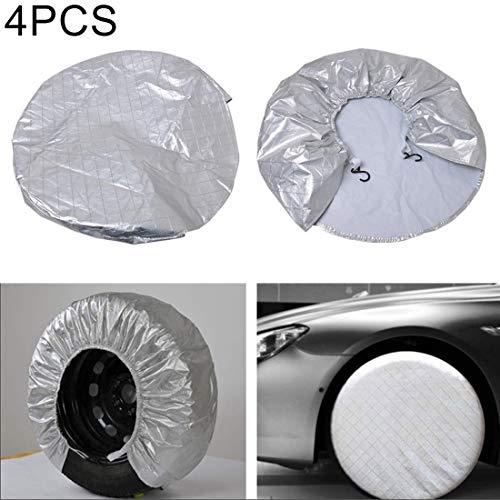 Autohoezen Regenjas Bandenhoezen Wiel Motorhome Wielhoezen Zonwering Waterdichte Aluminium Film 4 Stks, Geschikt voor De Tire tot 29 inch