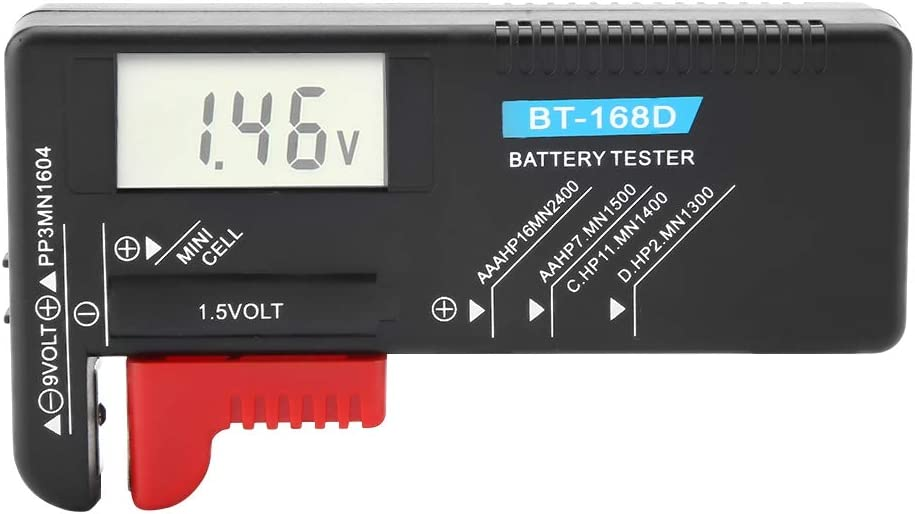 Battery Tester, Easy-to-read Button Cell Battery Volt Tester for Home