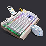 GHJRR Service G700 USB RGB Backlight Wired Optical Gaming Mouse and Keyboard Set, Keyboard Cable Length:...