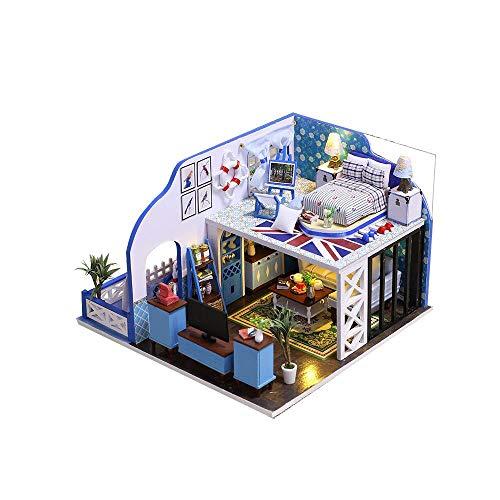 TEYUN Hecho a Mano Modelo Mini Villa de Dos Pisos for ensamblar Juguetes Provenza Villa Modelo Regalo cueative for Las Girl Juguetes