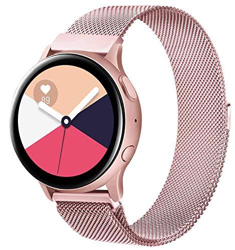 KOJJ Metallo 20mm Cinturino Compatible con Samsung Galaxy Watch Active 2 40mm 44mm Active 40mm Samsung Galaxy Watch 42mm Galaxy Watch 3 41mm, Cinturini per Gear S2 Classic Gear Sport