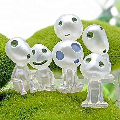 Little Bear Junkers Princess Mononoke Kodama (Tree Spirit) 6 Piece Glow-in-The-Dark Set
