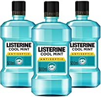 Listerine Cool Mint Mouthwash - Pack of 3 Bottles (3 x 500 ml)