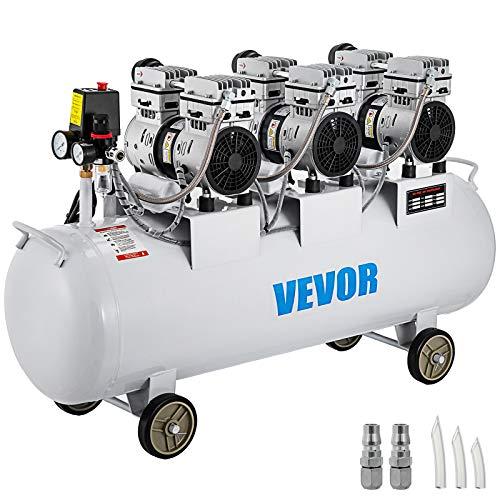 Moracle Compresor de Aire sin Aceite Silencioso de 22 Galones / 100Litros