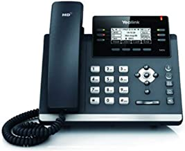 Yealink SIP-T41S IP Phone, 6 Lines. 2.7-Inch Graphical Display. Dual-Port Gigabit Ethernet, 802.3af PoE, Power Adapter Not Included