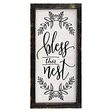 Brownlow Kitchen Bless This Nest Framed Linen Sign