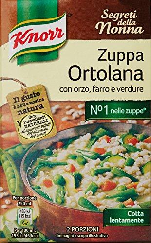 Knorr Zuppa Ortolana con Orzo Farro e Verdure, 500ml